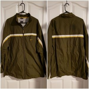 NIKE DARK GREEN ZIP UP WINDBREAKER JACKET XL